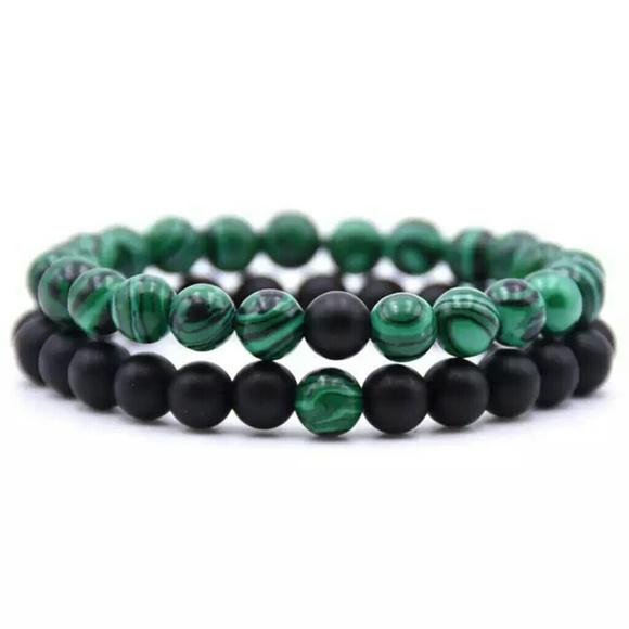 6be1b9e218e40 Men's Malachite bracelet NWT